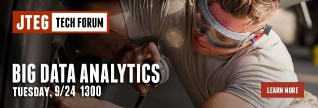 JTEG Forum: Big Data Analytics